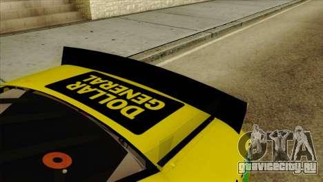 NASCAR Toyota Camry 2013 для GTA San Andreas вид сзади