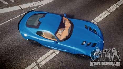 Dodge Viper SRT 2013 rims2 для GTA 4 вид справа