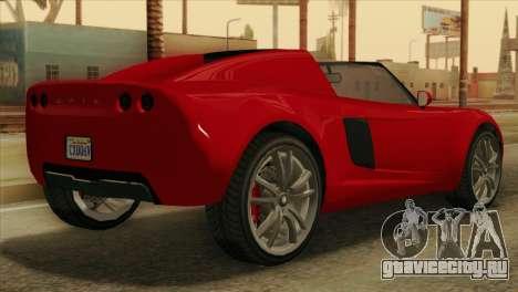 GTA 5 Coil Voltic v2 для GTA San Andreas вид слева
