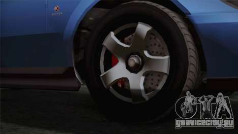 GTA 5 Karin Sultan IVF для GTA San Andreas вид сзади слева
