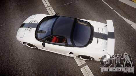 Honda NSX 1998 [EPM] nsx-r для GTA 4 вид справа