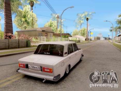 ВАЗ 2106 Classic для GTA San Andreas вид слева