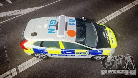 Volvo V40 Metropolitan Police [ELS] для GTA 4 вид справа