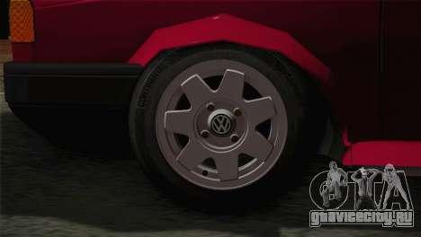 Volkswagen Senda для GTA San Andreas вид сзади слева
