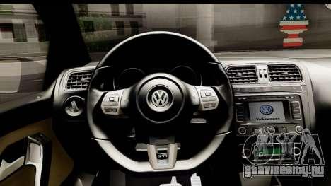 Volkswagen Polo GTI для GTA San Andreas вид сзади