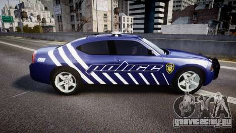 Dodge Charger 2010 Police [ELS] для GTA 4 вид слева