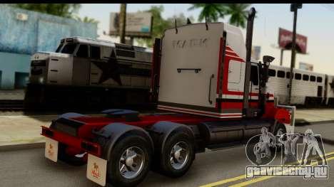 Mack Superliner 6x4 для GTA San Andreas вид слева