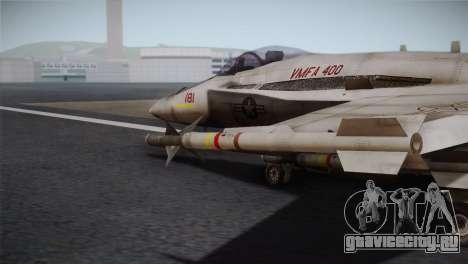 F-18 Hornet (Battlefield 2) для GTA San Andreas вид справа
