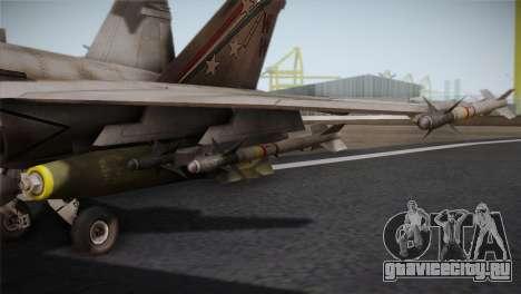 F-18 Hornet (Battlefield 2) для GTA San Andreas вид сзади