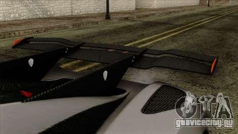 Koenigsegg One 1 для GTA San Andreas вид справа
