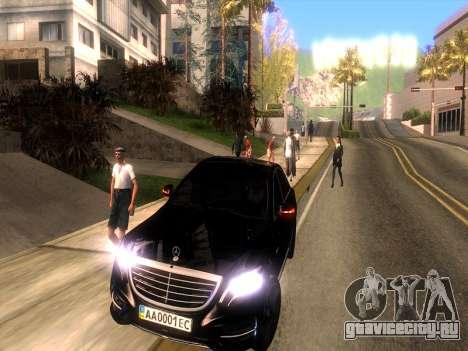 Mercedes-Benz Long S65 W222  Black loaf для GTA San Andreas вид сзади