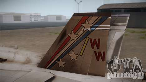 F-18 Hornet (Battlefield 2) для GTA San Andreas вид сзади слева
