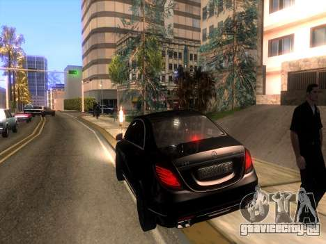 Mercedes-Benz Long S65 W222  Black loaf для GTA San Andreas вид изнутри