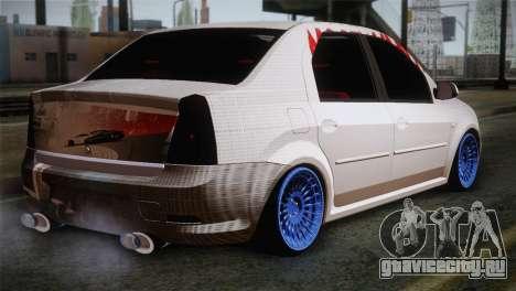 Dacia Logan Most Wanted Edition v3 для GTA San Andreas вид слева