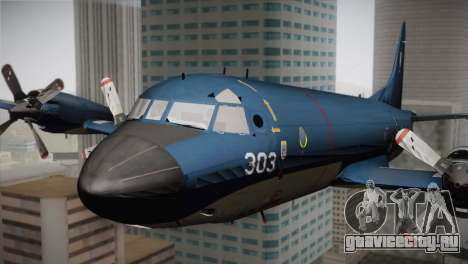 Lockheed P-3 Orion MLD Old для GTA San Andreas вид сзади