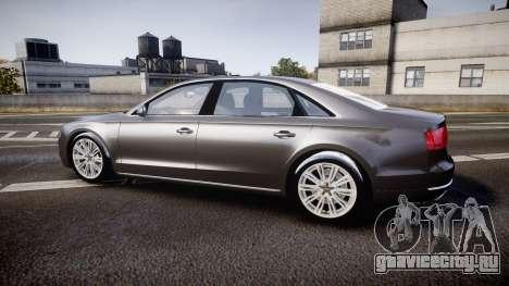 Audi A8 L 4.2 FSI quattro для GTA 4 вид слева