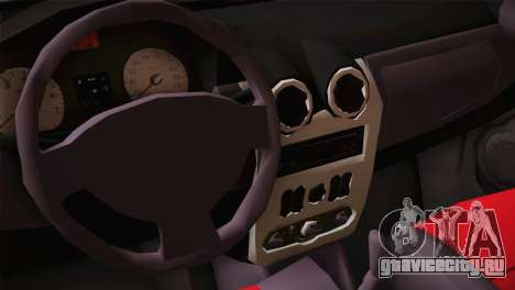 Dacia Logan Most Wanted Edition v2 для GTA San Andreas вид сзади