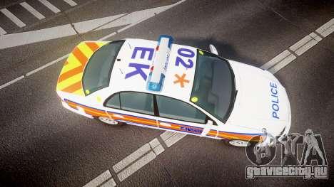 Vauxhall Omega Metropolitan Police [ELS] для GTA 4 вид справа