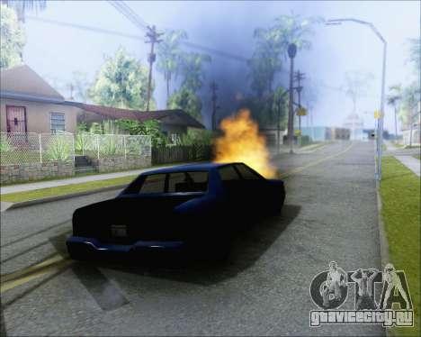 Езда на взорванном авто для GTA San Andreas второй скриншот