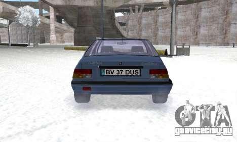 Dacia Super Nova для GTA San Andreas вид сзади