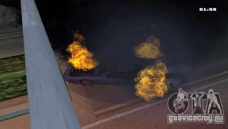 Burning Car для GTA San Andreas третий скриншот