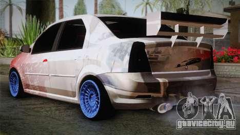 Dacia Logan Most Wanted Edition v2 для GTA San Andreas вид слева