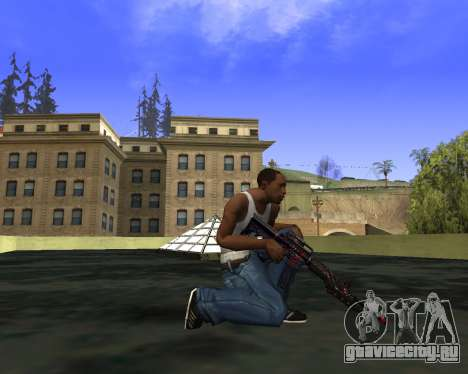 M4A1 Cross Fire для GTA San Andreas второй скриншот