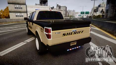Ford F150 2010 Liberty County Sheriff [ELS] для GTA 4 вид сзади слева