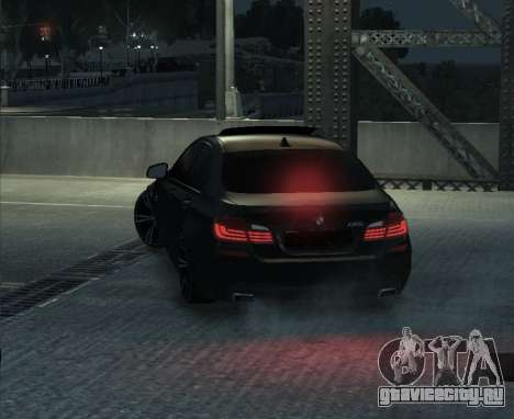 BMW M5 F10 2014 для GTA 4 вид справа