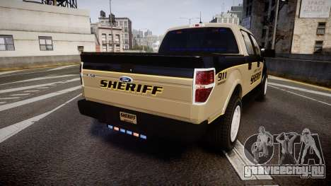 Ford F150 Liberty County Sheriff [ELS] Slicktop для GTA 4 вид сзади слева