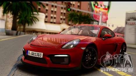 Porsche Cayman GT4 981c 2016 EU Plate для GTA San Andreas