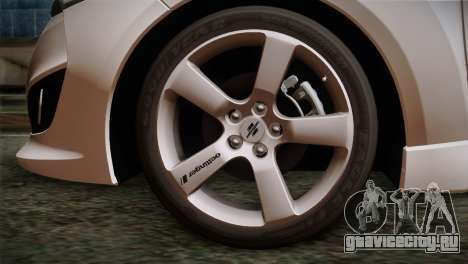 Hyundai Veloster 2012 Autovista для GTA San Andreas вид сзади слева