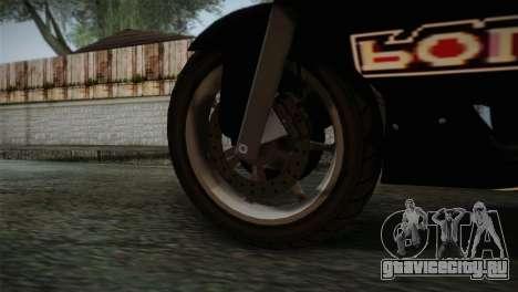 GTA 5 Bati Police для GTA San Andreas вид сзади слева