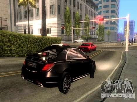 Mercedes-Benz Long S65 W222  Black loaf для GTA San Andreas вид сзади слева