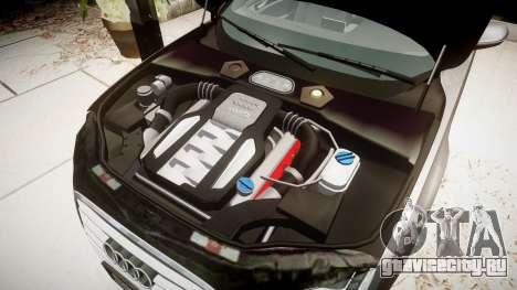 Audi A8 L 4.2 FSI quattro для GTA 4 вид сзади