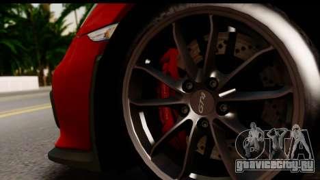 Porsche Cayman GT4 981c 2016 EU Plate для GTA San Andreas вид сзади