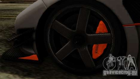 Koenigsegg One 1 для GTA San Andreas вид сзади слева