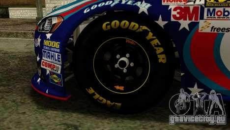 NASCAR Ford Fusion 2013 для GTA San Andreas вид сзади слева