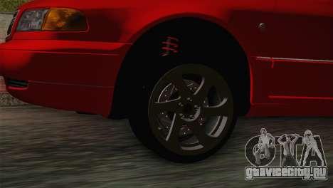 Audi A8 2000 для GTA San Andreas вид сзади слева
