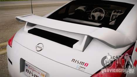 Nissan 350Z Nismo для GTA San Andreas вид справа