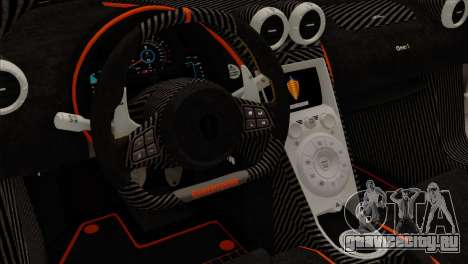 Koenigsegg One 1 для GTA San Andreas вид сзади