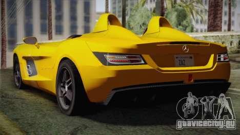 Mercedes-Benz SLR McLaren Stirling Moss для GTA San Andreas вид слева