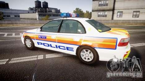 Vauxhall Omega Metropolitan Police [ELS] для GTA 4 вид слева