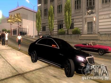 Mercedes-Benz Long S65 W222  Black loaf для GTA San Andreas вид справа