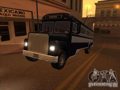 Bus из GTA 3 для GTA San Andreas вид изнутри