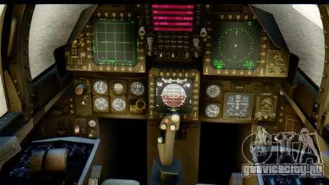 F-15J Mitsubishi Heavy Industries для GTA San Andreas вид сзади