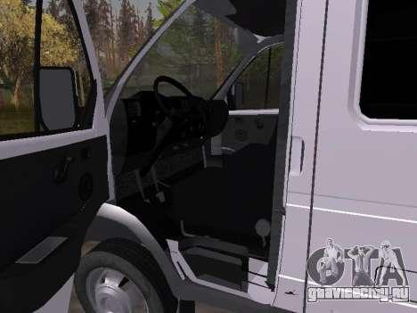ГАЗ 2705 для GTA San Andreas вид сзади