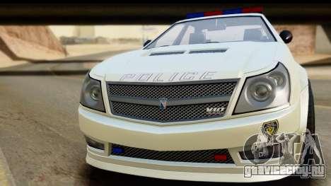 EFLC TBoGT Albany Police Stinger для GTA San Andreas вид сзади слева