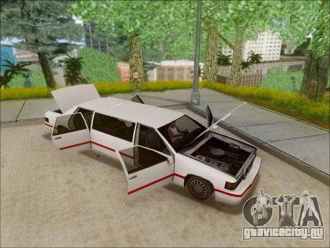 Elegant Limousine для GTA San Andreas вид справа