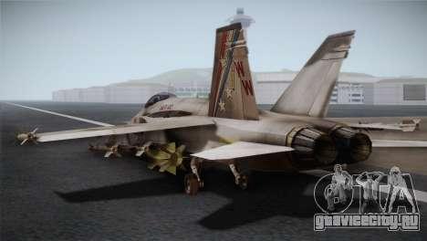 F-18 Hornet (Battlefield 2) для GTA San Andreas вид слева
